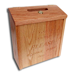 Coaster Call Pager Drop Box Wooden